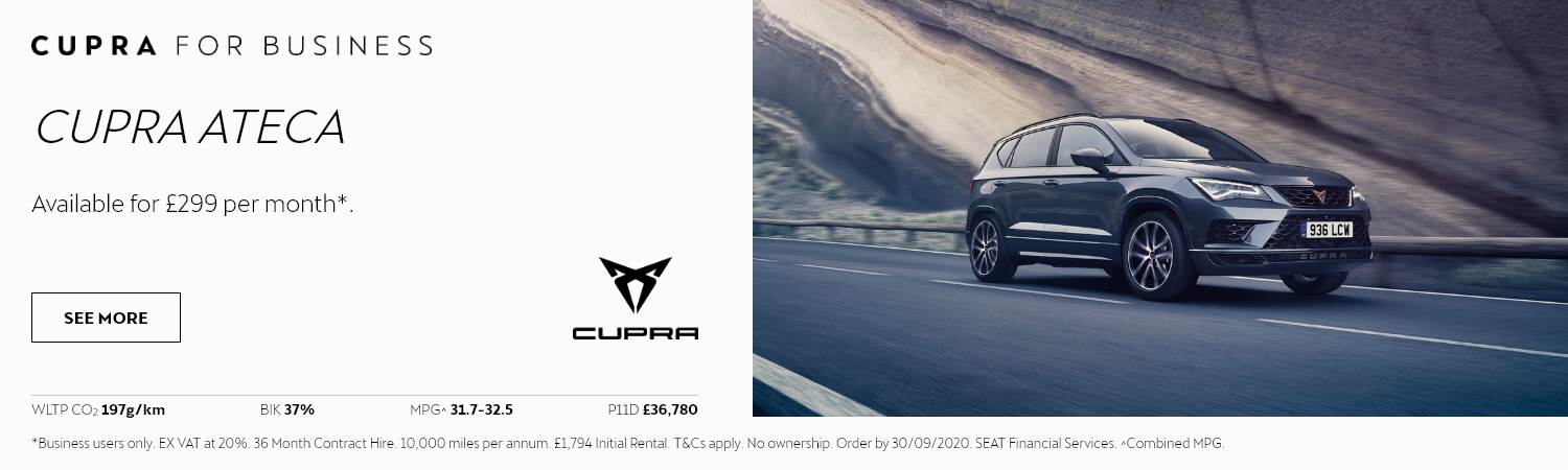 SEAT Cupra Ateca Business Offer at Gravells in Pontyberem, Llanelli