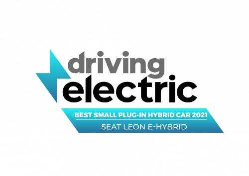 Driving electric best small plug in hybrid car 2021, seat leon