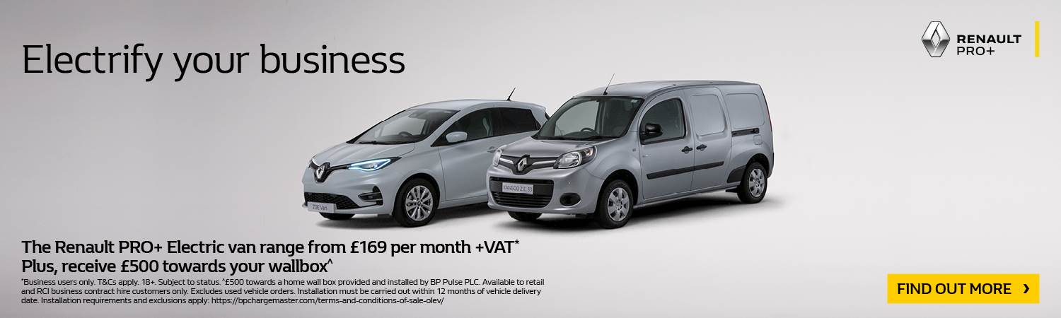 Renault PRO+ Electric vans from £169 per month
