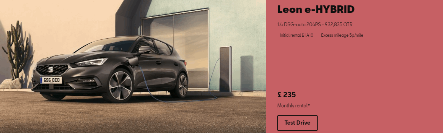 SEAT Leon e-hybrid Business Contract hire at £310 per month at Gravells