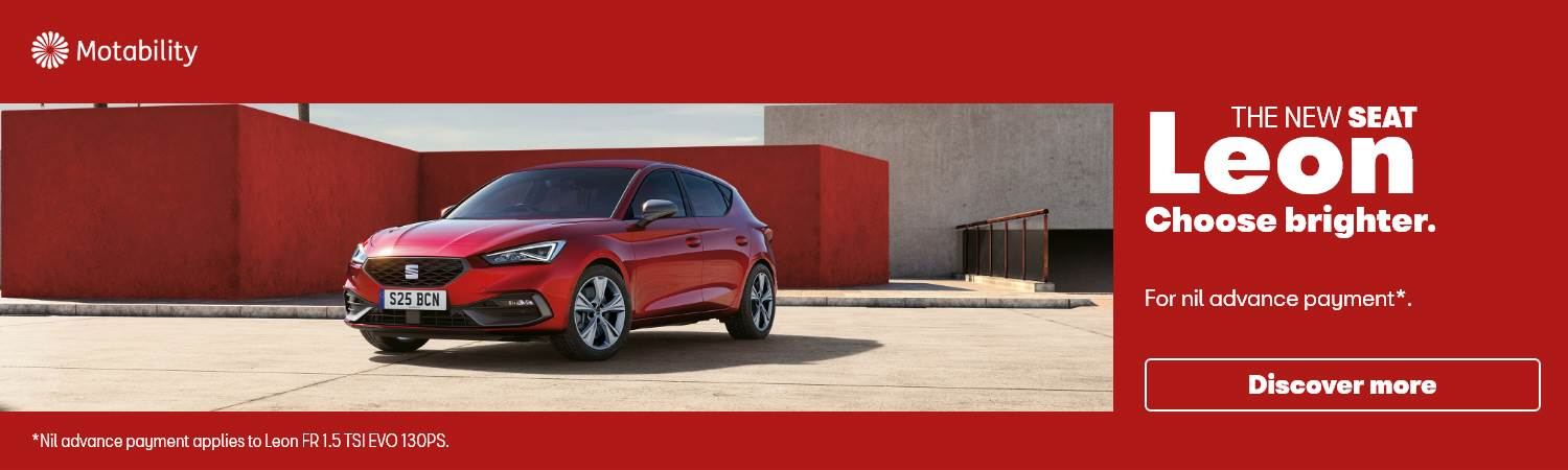 SEAT New Leon Nil advance payment Motability Offer at Gravells in Pontyberem, Llanelli