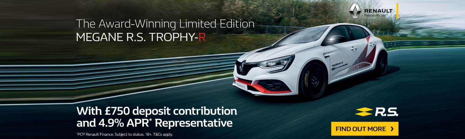 Megane R.S offer with £750 deposit contribution and 4.9 APR