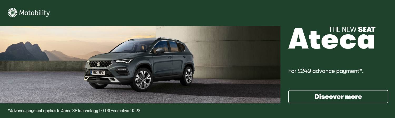 SEAT Ateca £249 advance payment Motability Offer at Gravells in Pontyberem, Llanelli