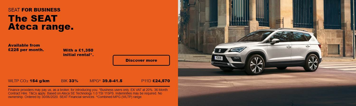SEAT Ateca Business Front at Gravells in Pontyberem, Llanelli